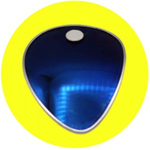 Image of Clip Clash Pin Blue Yellow